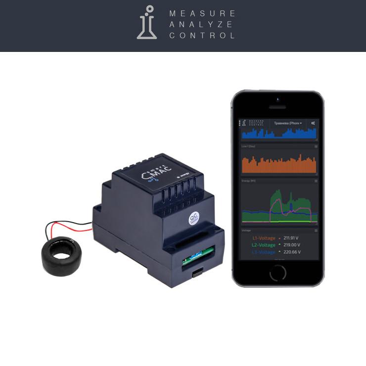 Умный счетчик электроэнергии c WiFi D101, однофазный, стандартная версия