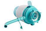 Помпа для воды механическая HotFrost C1 с ручкой бирюзовая, фото 3