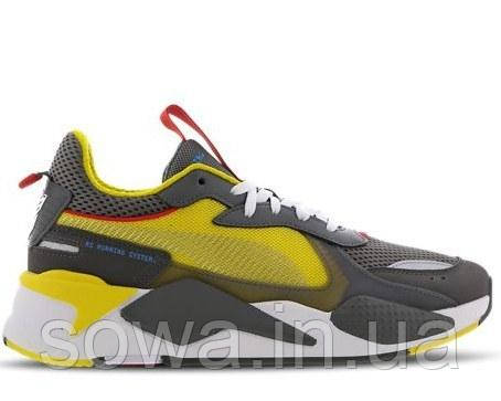 """✔️ Кроссовки Puma Rs-x X Transformers Bumblebee """"Quiet Shade/Cyber Yellow/White"""""""