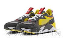 "✔️ Кроссовки Puma Rs-x X Transformers Bumblebee ""Quiet Shade/Cyber Yellow/White"", фото 2"