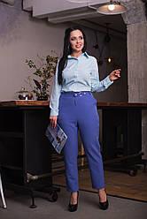 Яркие брюки с интересным поясом