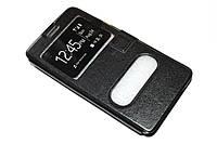 Кожаный чехол книжка для Samsung Galaxy A7 A700 чёрный, фото 1