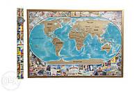 Скретч карта мира My Vintage Map (на украинском языке )