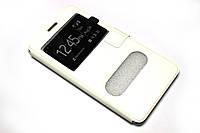 Кожаный чехол книжка для Samsung Galaxy A7 A700 белый, фото 1