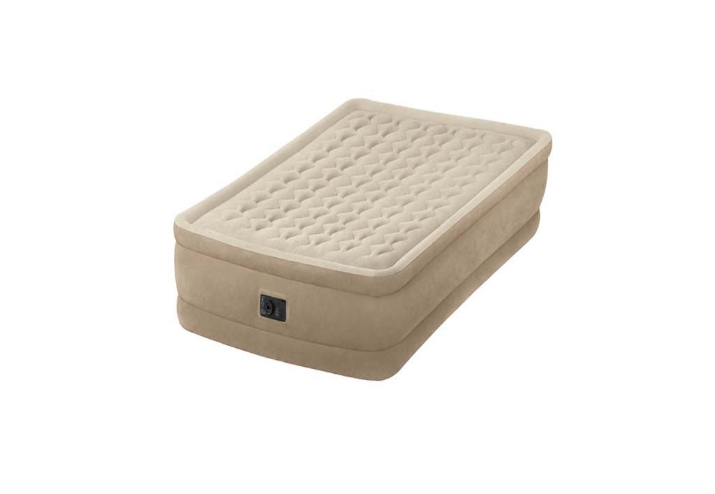 Надувная велюр-кровать Intex со встроенным электронасосом 99х191х46 см (64456)
