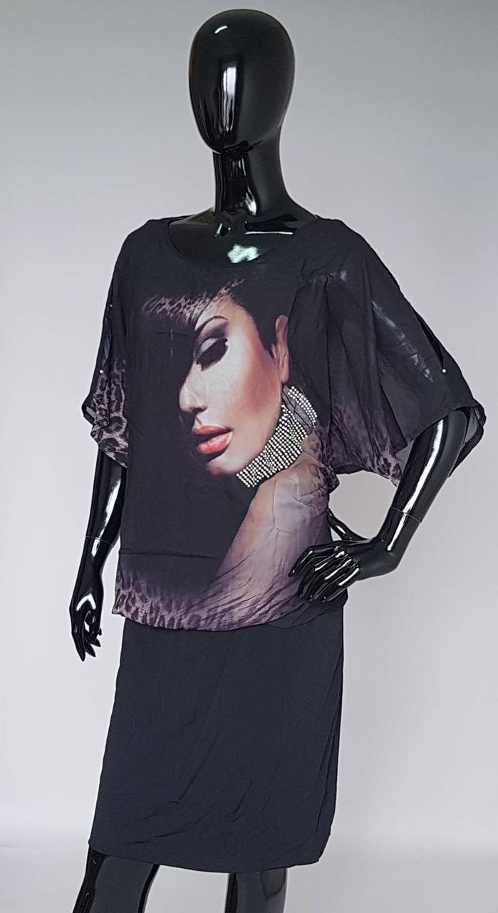 Женское летнее платье «Селфи» черного цвета