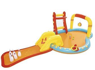 Детский надувной центр Bestway «Маленькие чемпионы»,  с игрушками и шариками