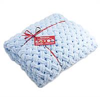Детский плюшевый плед Ярмирина Голубой 80х100 см в подарочной сумке