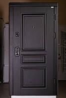 Трёх-контурная входная дверь в квартиру сталь 2 мм. цвет Венге/Белый матовый