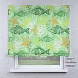 Римская фото штора Рыбки, фото 2