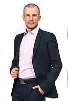 Льняной мужской пиджак цвета дипломат S&C