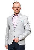 Мужской летний  пиджак светло-серого цвета S&C