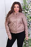 Куртка-БАТАЛ, жіноча 310, колір кава з молоком, фото 1