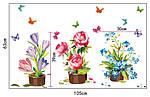 Інтер'єрна наклейка - Квіти (105х63см), фото 3