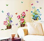 Інтер'єрна наклейка - Квіти (105х63см), фото 4