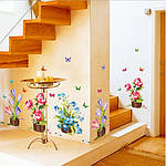 Інтер'єрна наклейка - Квіти (105х63см), фото 6
