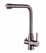 Смеситель кухонный с подключением к фильтру Kraft 3008 с нержавеющей стали