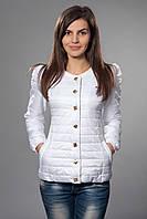 Женская демисезонная куртка. Код модели К-54-12-15. Цвет белый