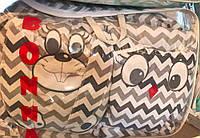 Детское постельное белье для новорожденных в кроватку Bonna Зверушки подружки Совенок и Зайка