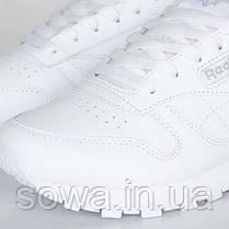"✔️ Кроссовки Reebok Classic Leather ""All White"" , фото 3"