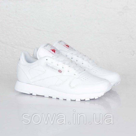 "✔️ Кроссовки Reebok Classic Leather ""All White"""