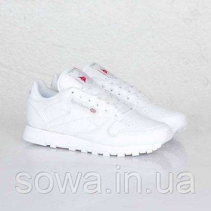 "✔️ Кроссовки Reebok Classic Leather ""All White"" , фото 2"