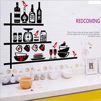 Интерьерная наклейка-Кухонная полочка (87х61см)