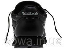 "✔️ Кроссовки Reebok Classic Leather ""All Black"" , фото 3"