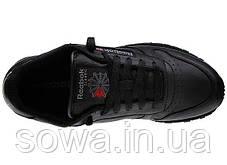 "✔️ Кроссовки Reebok Classic Leather ""All Black"" , фото 2"