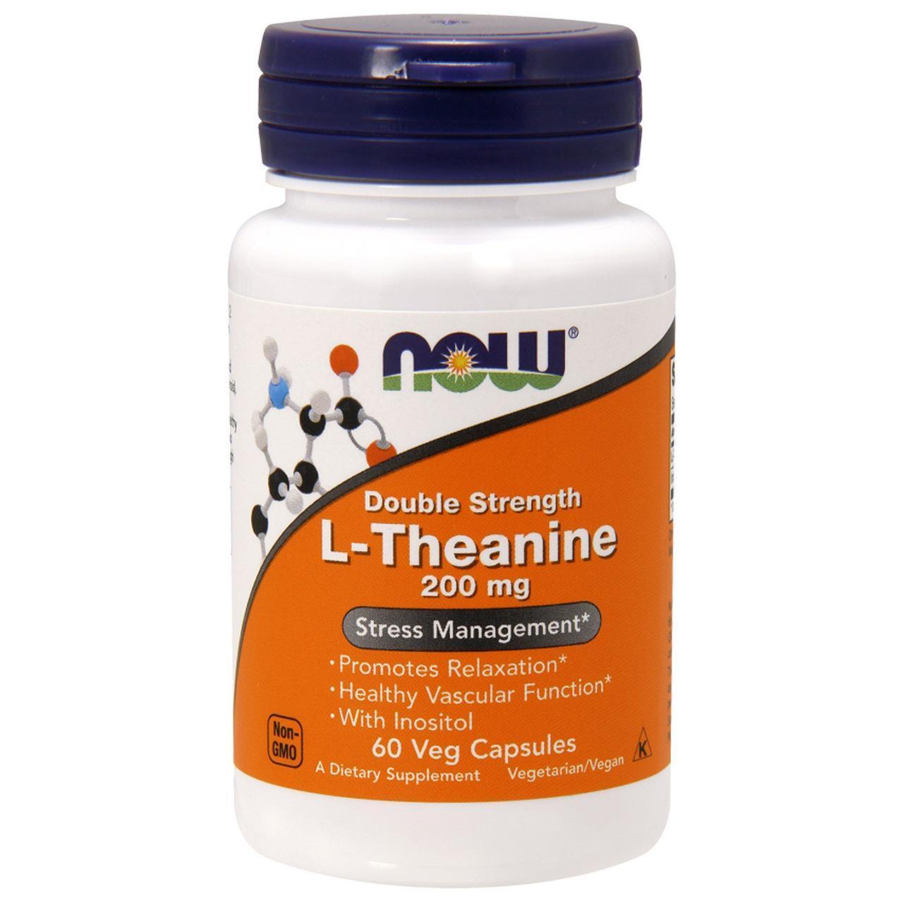 NOW_L-Theanine 100 мг - 90 кап веган