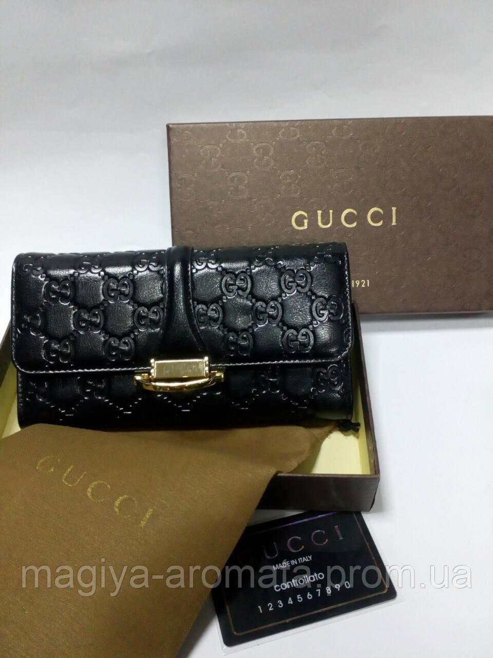 d0ae894819a5 ЖЕНСКИЙ КОЖАНЫЙ портмоне кошелек Gucci Гуччи Original черный ...