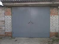 Ворота гаражные 2,0х3,0 м металл 2,0 мм без рамки