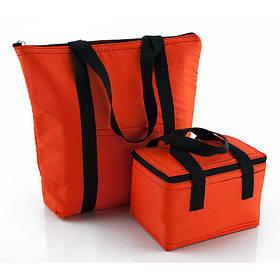 Комплект термосумок пляжная 22л + ланч бэг 5,5л оранжевый