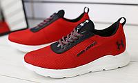 Кроссовки красные в сеточку, фото 1