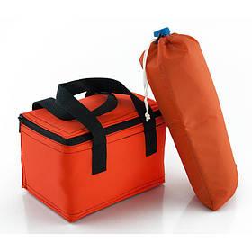 Комплект термосумок ланч бэг 5,5л + чехол для бутылки 2л оранжевый