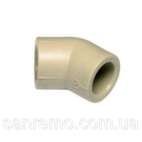 Колено (уголок) 45° диам. 63 мм Wavin Ekoplastik