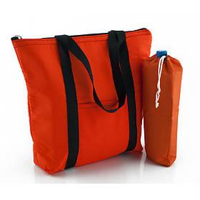 Комплект термосумок пляжная 22л + чехол для бутылки 2л оранжевый