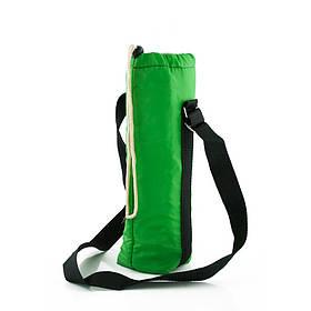Термосумка  для бутылки 1,5л на ремне зеленая