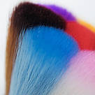 Щетка для ногтей, со стразами, разноцветный ворс, фото 2