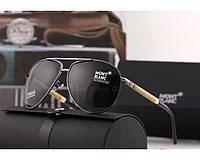 Мужские солнцезащитные очки авиаторы в стиле Montblanc (2715)