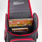 Рюкзак школьный трансформер Kite Education Hot Wheels 0.95 кг 35x25.5x13 см 11 л Темно-серый (HW19-500S), фото 5