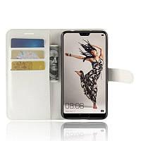 Чехол-книжка Litchie Wallet для Huawei P20 Белый