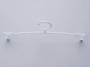 Длина 27 см. Плечики вешалки тремпеля WBX5B белого цвета, фото 2