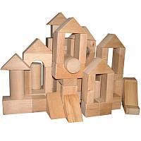Конструктор Городок дерев'яний 70 елементів