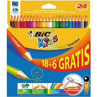 Цветние карандаши Bic (24 цветов) eco