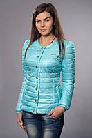 Женская демисезонная куртка. Код модели К-54-12-15. Цвет светло голубой