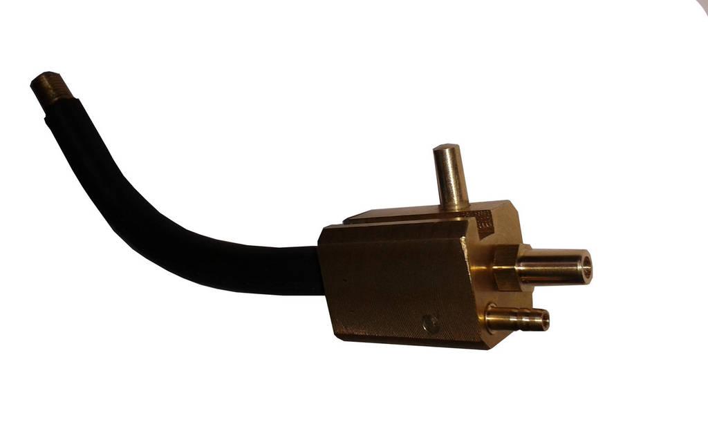 Клапан механический латунный  с гусаком для рукава