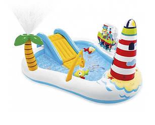 Надувной игровой центр «Веселая Рыбалка», с надувной удочкой. Intex