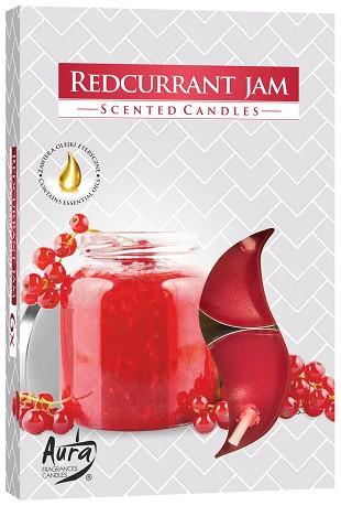 Свеча чайная ароматизированная Bispol Варенье из красной смородины 1.5 см 6 шт (p15-251)