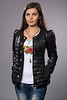 Женская демисезонная куртка. Код модели К-54-12-15. Цвет черный